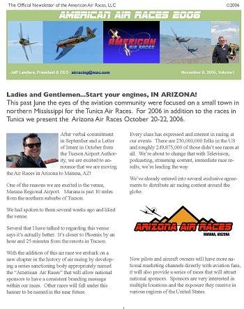 Air Race News - Arizona Air Races